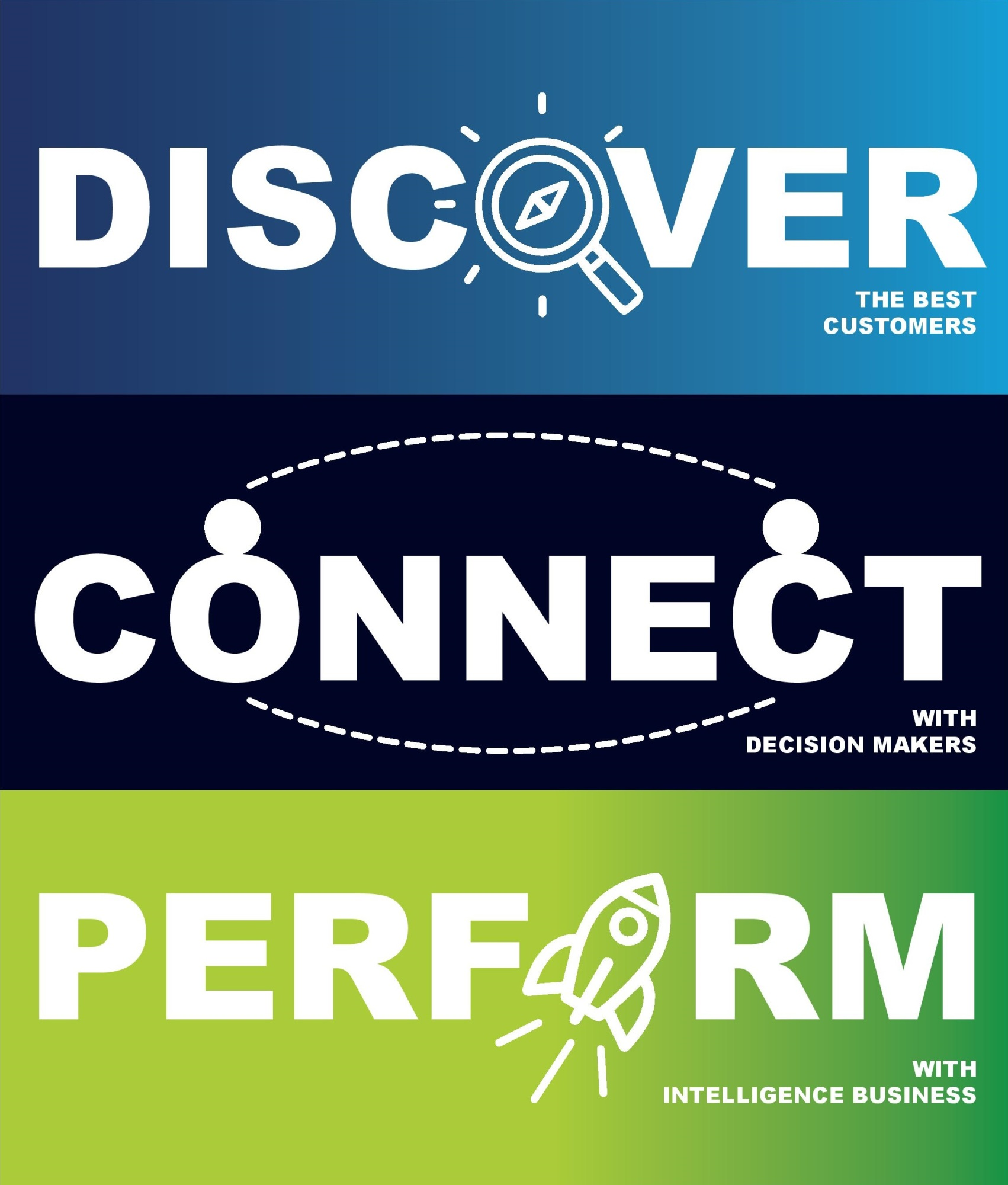 Discoer Connect Perform slogan