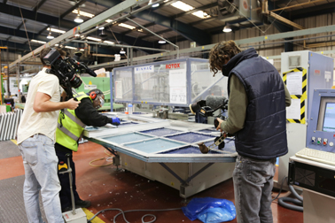 Filming on the set of Made In Britain
